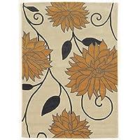 Linon Trio Natural Fiber Rugs, 1.10 x 2.10, Off/White
