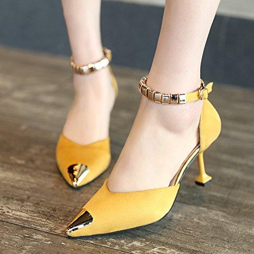 Femmes Avec Pour 36 Et lgantes Chaussures tranges Jaune 5wRzqx7x