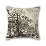 Slimmingpiggy Oil Painting Giovanni Battista Piranesi - Veduta With The Temple Of Jove Throw Pillow Case 18 X 18 Inches / 45 By 45 Cm Gift Or Decor For Valentine,bar,son,birthday,drawing Room,girls