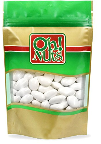 White Jordan Almonds Super Fine, 2 Pound Bag - Oh! Nuts Italian Almond Candy