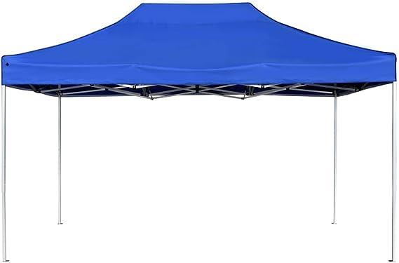 vidaXL Carpa Plegable Profesional Aluminio Cenador Pagoda Jardín Pérgola Fiestas Celebraciones Salones Estructuras Recintos Parasoles 4,5x3 m Azul: Amazon.es: Hogar