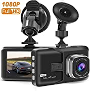 "#LightningDeal 85% claimed: Dash Cam,T-mars Dash Camera for Cars with Full HD 1080P 170 Degree Super Wide Angle Cameras, 3.0"" TFT Display, G-Sensor, Night Vision, WDR, Loop Recording"