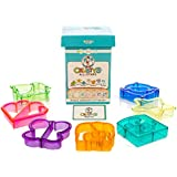 Crusty's All-Stars Sandwich Cutters - Set of 7 High-Quality Crust & Cookie Cutters - Butterfly, Dinosaur, Dolphin, Elephant, Heart, Puzzle and Star