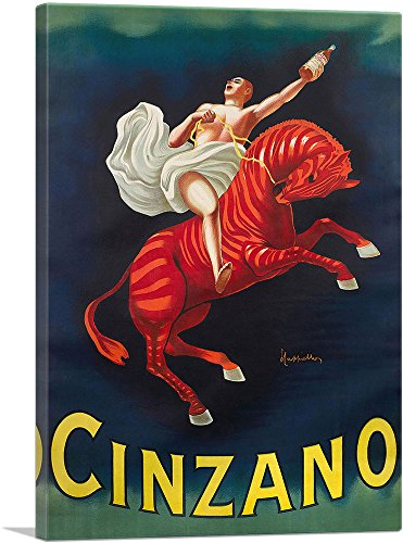 Cappiello Canvas Print - ARTCANVAS Cinzano Vermouth Torino 1910 Canvas Art Print by Leonetto Cappiello- 26