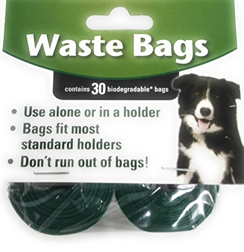 Biodegradable Waste Bag Refill Roll Set- Environmentally Friendly | Use Alone or in a Holder | Bags Fit Most Standard Holders | 15 Rolls, 150 Bags (Unscented Poop Bags)