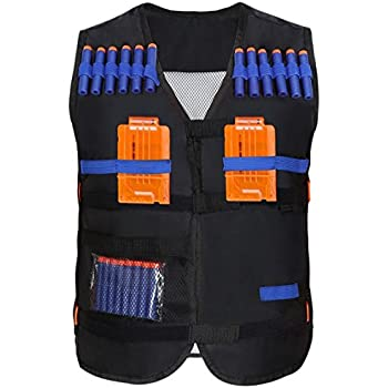 Yosoo Kids Elite Tactical Vest with 20 Pcs Soft Foam Darts for Nerf Gun N-