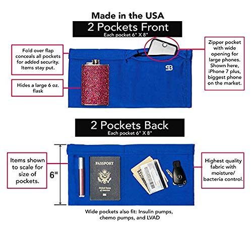 0877a0e83016a4 Amazon.com   Stashbandz Unisex Travel Money Belt
