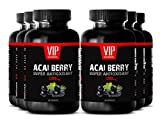 VIP VITAMINS Acai berry lose weight herbal - ACAI BERRY SUPER ANTIOXIDANT EXTRACT 1200 MG - Weight loss pills - 6 Bottles 360 Capsules