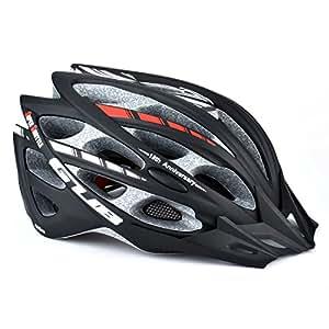 GVDV Unisex Adjustable Cycling Helmet for Adult, Black
