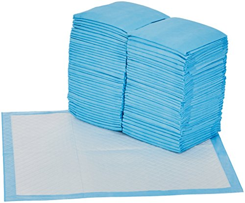 AmazonBasics Heavy Duty Regular Pet Dog and Puppy Training Pads - Pack of 80, 24 x 23 Inches from AmazonBasics
