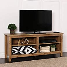 Whalen Brown Cherry Tv Panel Flat 3 In 1 Stand For Tvs Up To 65