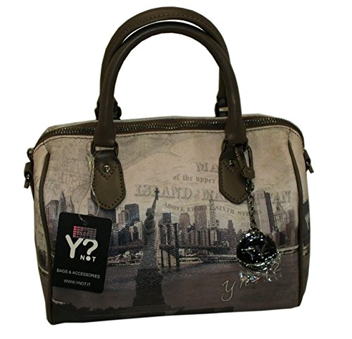 BORSA YNOT G317 BAULETTO PICCOLO MANICI IN PELLE NEW YORK LIBERTY