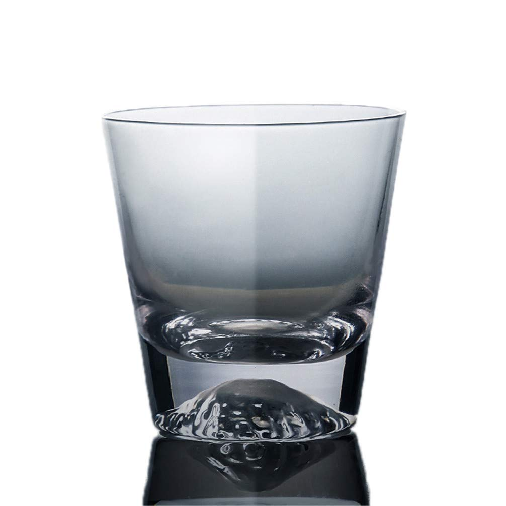 Glass Cup Creative Fujiyama Cup Handmade Snow Mountain Cup Whiskey Glass Juice Cup Portable Lead-free Transparent Dessert Juice Salad Milk Tea Milkshake Drink Cup