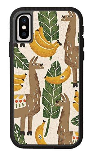Custom iPhone X Case,Alpaca coloring Hard Plastic Hard Case for iPhone X