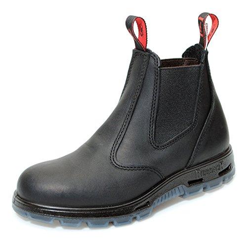 Redback Usbbk Stivali Da Lavoro Di Sicurezza In Australia - Con Puntale In Acciaio - Unisex + 250 Ml Di Cura In Pelle | Nero / Nero Nero (nero)