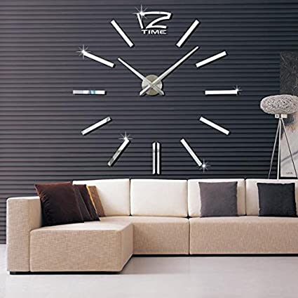 Buy Sellify Black 2017 3D Real Big Wall Clock Rushed Mirror
