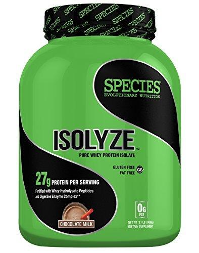 Species Nutrition Isolyze Chocolate Milk Supplement, 3.1 Pound by Species Nutrition