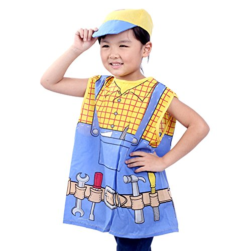 TOPTIE Occupations Costumes with Hats for Kids Role Play Dress Up Costume-Engineer-S -