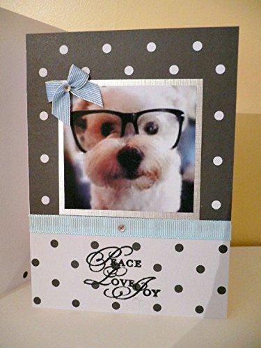 Christmas dog card Handmade Greetings Westie poodle terrier dog card Thanksgiving Xmas Holidays Seasons greeting (Season Poodle)