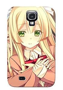 Fashion Tpu Case For Galaxy S4- Innocent Bullet Blonde Hair Gamegreen Eyes Oosaki Shinya Seifuku Yasouji Ai Defender Case Cover