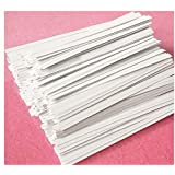 "Easytle 5"" Paper White Twist Ties 100 Pcs"