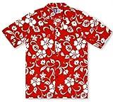 RJC Boys Hibiscus Red Hawaiian Shirt