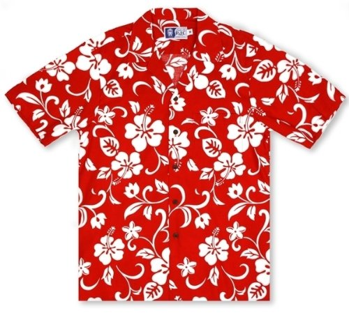 RJC Boys Hibiscus Red Hawaiian Shirt by RJC (Image #1)