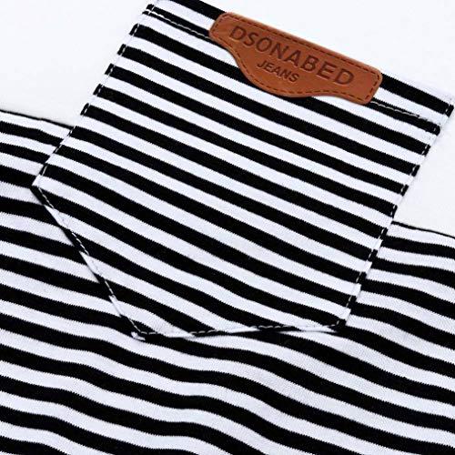 Abbigliamento Nero Camicetta T Lunga Casual Shirts Ragazze Loose Amlaiworld Neck O Manica Donna Teen Block Color Clearance qcxaEA