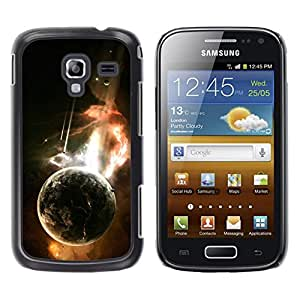 Persecución De La Tierra - Metal de aluminio y de plástico duro Caja del teléfono - Negro - Samsung Galaxy Ace 2