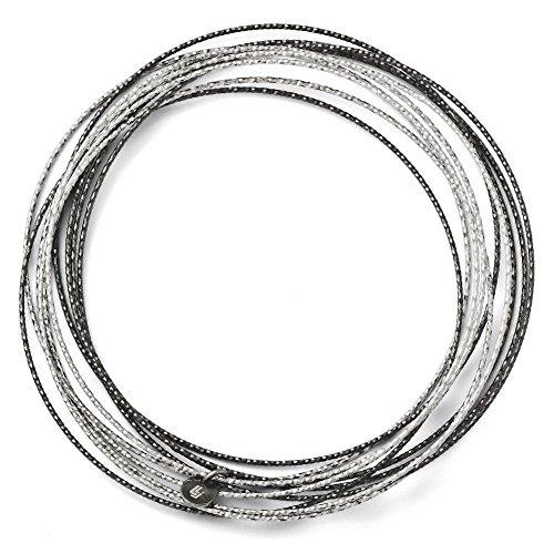 Plaqué ruthénium et diamant taille 10 couches Bracelet JewelryWeb dérapant