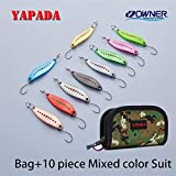 CUSHY YAPADA Poon 012 New Leech 5g/45mm 7.5g/51mm Owner Ingle Multicolor Zinc Alloy Metal mall Poon Fihing Lure Trout: Bag 5g Mix 10piece