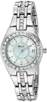 Relic Women's 'Queen's Court' Quartz Metal and Leather Casual Watch, Color:Silver-Toned (Model: ZR12161)