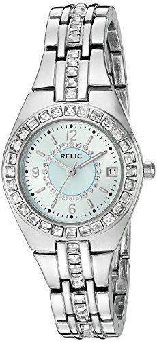 (Relic by Fossil Women's Queen's Court Quartz Stainless Steel Dress Watch, Color: Silver-Tone (Model: ZR12161))