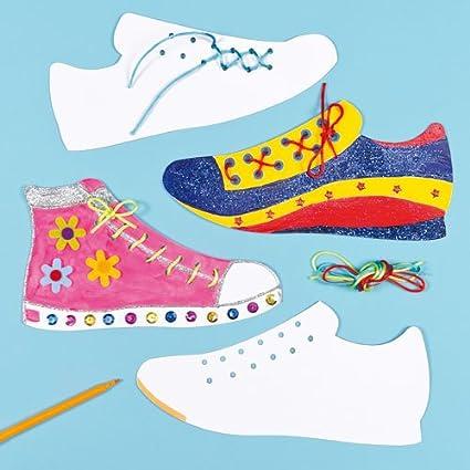 Amazon.com: Zapato de cordones Strong tarjeta blanca Formas ...
