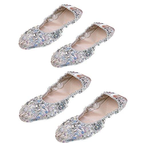Dance XL Chaussons L Danse Belly Paires Performance Sole Sharplace Professionnel Doux Chaussures 2 tfU1Hw