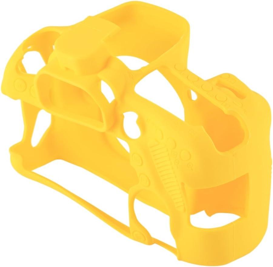 Color : Yellow XIAOMIN Soft Silicone Protective Case for Canon EOS 80D Premium Material