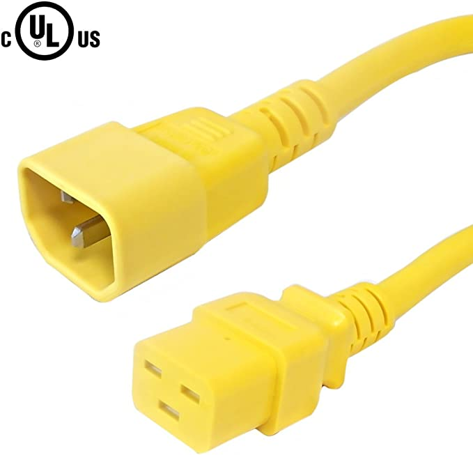 2-Pack Black Lynn Electronics C13C1415A-3F IEC 60320-C13 to 60320-C14 15A//250V 14AWG//3C SJT 3-Feet Power Cord