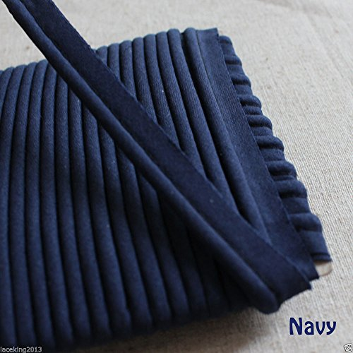 16yards Piping Bias Insertion Cord Rope Trimming 13mm (Navy)