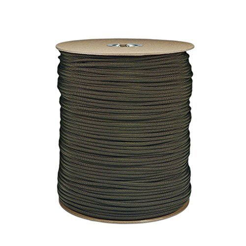 1000' Foot OD Olive Drab Green Parachute Cord Paracord Type III Military Specification 550