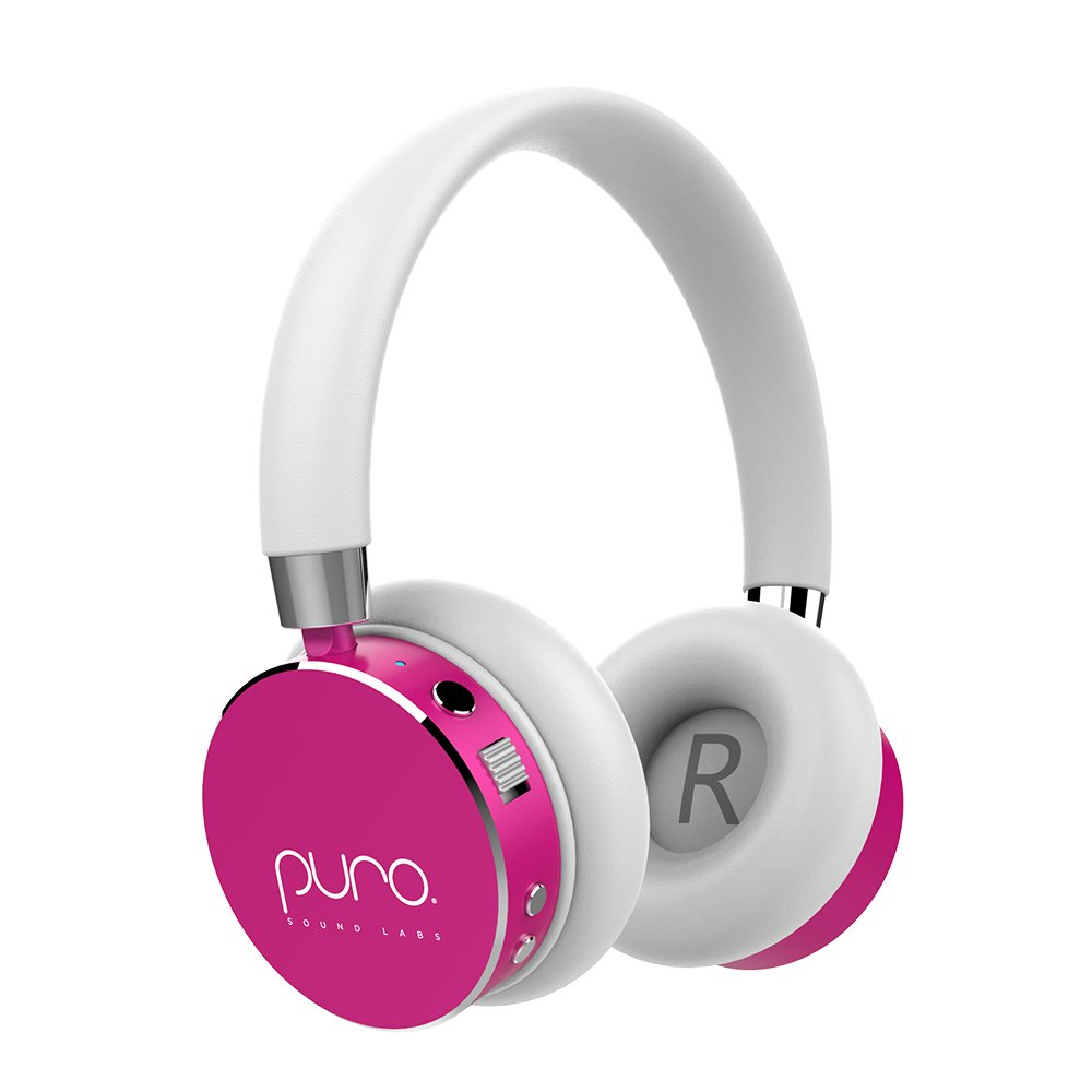 Puro Sound Labs BT2200 On-Ear Headphones Lightweight Portable Kids Earphones with Safe Wireless, Volume Limiting, Bluetooth and Noise Isolation for Smartphones/PC/Tablet - BT2200 Pink