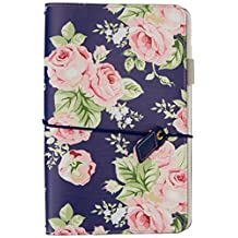 "Color Crush Faux Leather Travelers' Planner 5.75""X8""-Navy Floral"