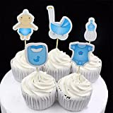 Set of 20 It's a Boy Cupcake Toppers Baby Shower Cakes Decoration Birthday Party Favors for Kids