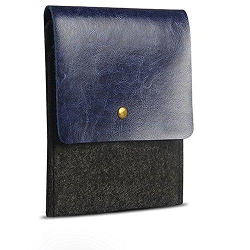 RAINYEAR Luxury Premium Slim Fuffy Felt Protective Sleeve Paperwhite Voyage Kobo Bag Case for Kindle Fire/Kindle HD/Kindle HDX(Blue)