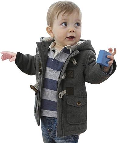 ASHOP Ropa Bebe Otoño Invierno, Niña Niño Impermeable Abrigo ...