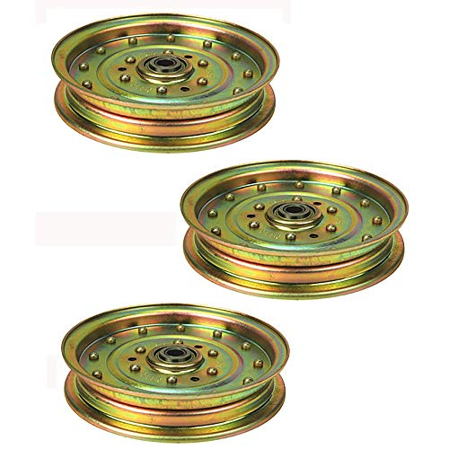 (3) Deck Flat Idler Pulleys for Ferris Zero Turn Mower 48