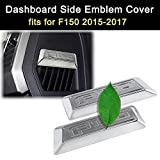 Side Emblem Cover Chrome Dashboard Trims for Ford F150 2015 2016 2017 Accessories
