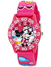 Disney Kids W001524 Minnie Mouse Pink 3D Plastic Strap Watch