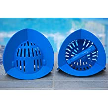 AquaLogix Blue Max Resistance Omni-Directional Aquatic Bells - Upper Body Pool Exercise Equipment - Includes Online Demonstration Video with 30 Sample Exercises (Bells Pair HRBBS)