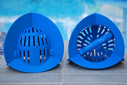 AquaLogix Blue Max Resistance Omni-Directional Aquatic Bells - Upper Body Pool Exercise Equipment - Includes Online Demonstration Video with 30 Sample Exercises (Bells Pair HRBBS) by AquaLogix