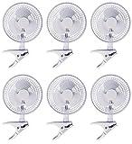 (6) HYDROFARM ACFC6 Active Air 6'' Clip On Office Kitchen Hydroponics Grow Fans --P#EWT43 65234R3FA619575